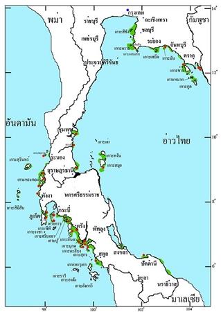 แผนที่พะยูนในประเทศไทย